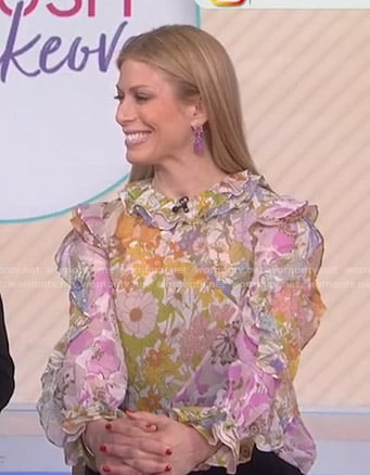 Jill's floral ruffle blouse on Today