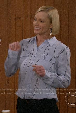 Christy's thin stripe sweater on Mom