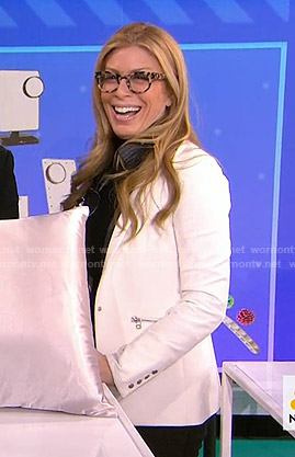 Jill's white zip pocket blazer on Today