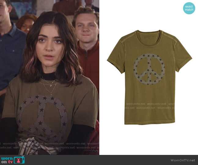 Peace Star Fill T-Shirt by John Varvatos worn by Olive Stone (Luna Blaise) on Manifest