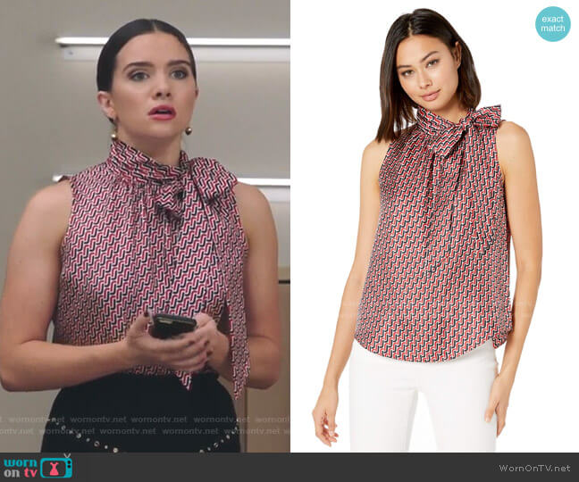 Pascale Top in Big Apple by Joie worn by Jane Sloan (Katie Stevens) on The Bold Type