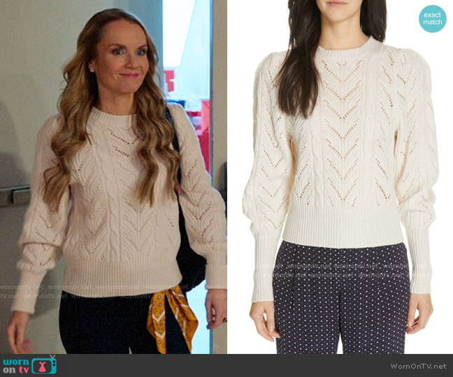 Joie Leti Sweater worn by Miss Jenn (Kate Reinders) on High School Musical The Musical The Series