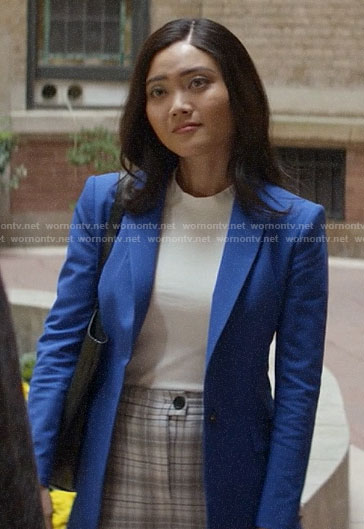 Joy's blue blazer on God Friended Me