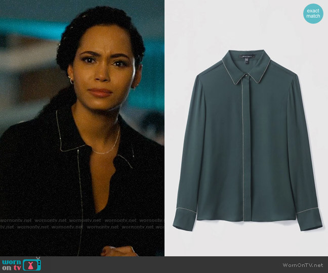 Judith & Charles Mila Blouse worn by Macy Vaughn (Madeleine Mantock) on Charmed