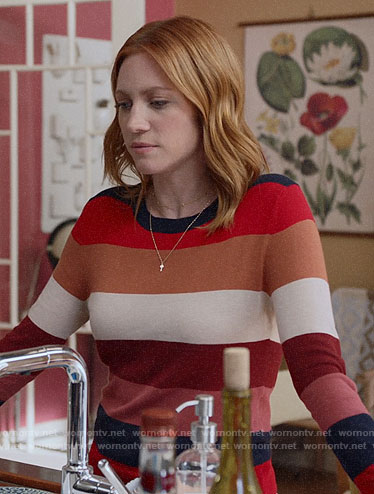 Julia's striped sweater on Almost Family