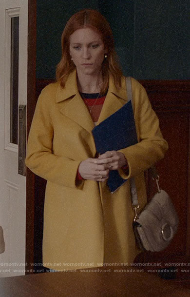 Julia's yellow coat on Almost Family