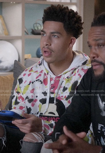 Junior's Hip Hop paint splatter hoodie on Black-ish