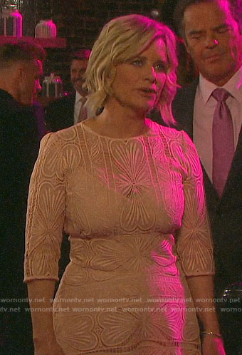 Kayla's embroidered NYE dress on Days of our Lives