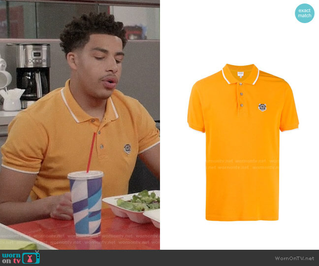 Kenzo Mini Tiger Polo Shirt worn by Andre Johnson Jr (Marcus Scribner) on Blackish