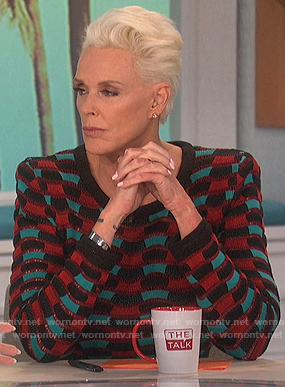 Brigitte Nielsen's knit dress on The Talk