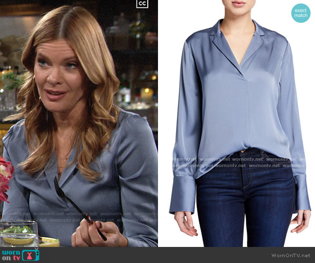 Kobi Halperin Rebekah Blouse worn by Phyllis Summers (Michelle Stafford) on The Young & the Restless