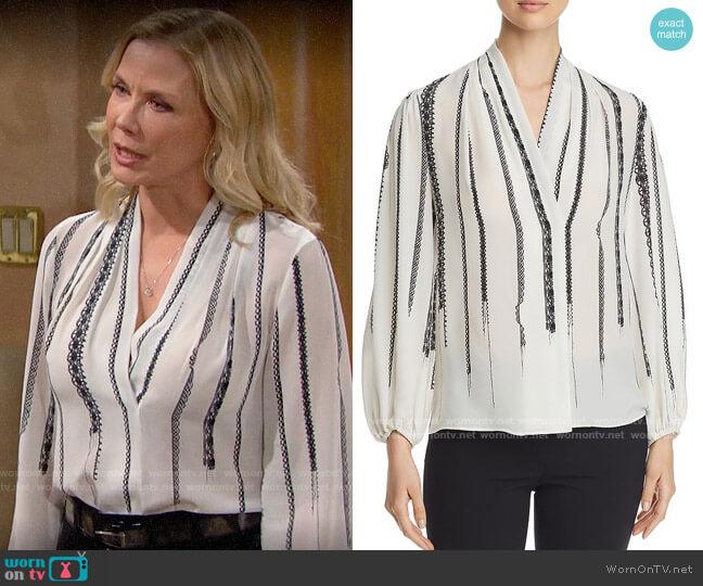 Kobi Halperin Wendi Blouse worn by Brooke Logan (Katherine Kelly Lang) on The Bold & the Beautiful