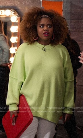 Kourtney's neon oversized sweater on High School Musical The Musical The Series
