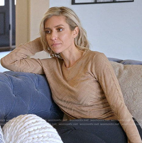 Kristin's beige chevron rib sweater on Very Cavallari