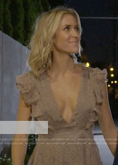 Kristin's ruffled date night dress on Very Cavallari