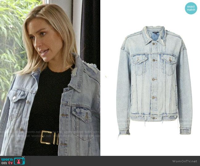 Ksubi Chillz Oversized Ripped Denim Jacket worn by Kristin Cavallari  on Very Cavallari