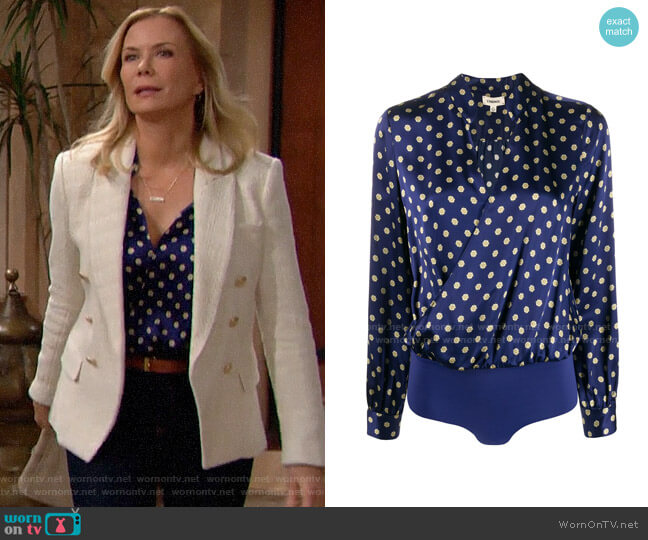 L'Agence Oceana Multi Maestro Marcella Bodysuit worn by Brooke Logan (Katherine Kelly Lang) on The Bold & the Beautiful