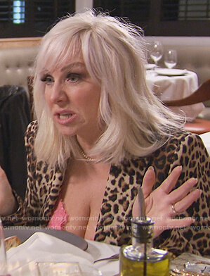 Margaret's leopard double breasted blazer on The Real Housewives of New Jersey