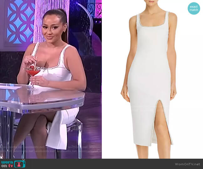 Gisela Bead-Embellished Midi Dress by Likely worn by Adrienne Houghton  on The Real