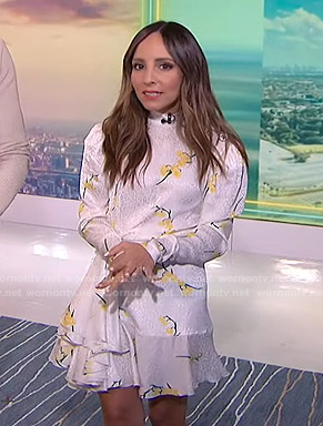 Lilliana's white floral mini dress on E! News