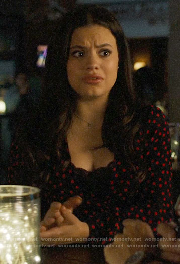 Maggie's black and red polka dot top on Charmed