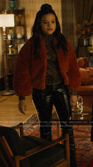 Maggie's orange fur jacket on Charmed