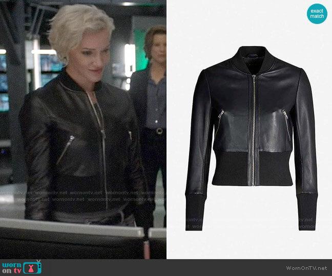 Maje Blotine Jacket worn by Laurel Lance (Katie Cassidy) on Arrow