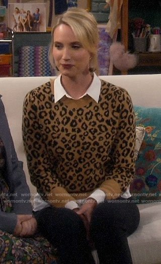 Mandy's leopard print sweater on Last Man Standing