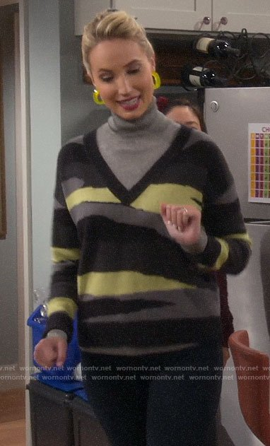 Mandy's neon camo sweater on Last Man Standing