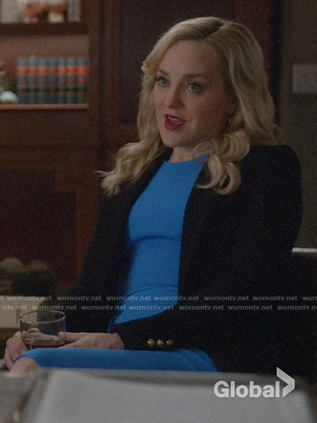 Marissa's black blazer on Bull