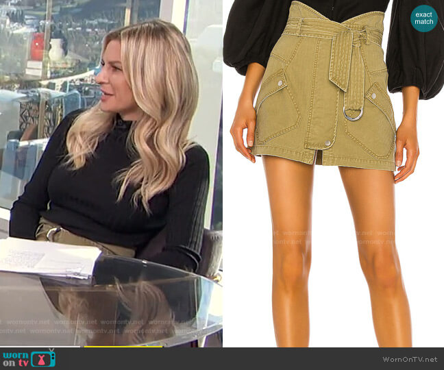Brooke Heavy Canvas Mini Skirt by Marissa Webb worn by Morgan Stewart  on E! News