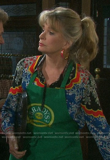 Hattie's mixed floral blouse on Days of our Lives