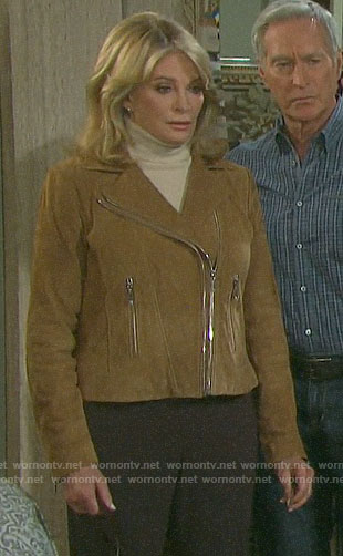 Marlena's suede moto jacket on Days of our Lives