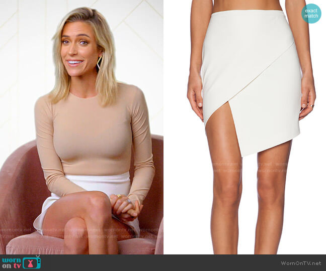 Michelle Mason Asymmetrical Wrap Skirt worn by Kristin Cavallari  on Very Cavallari