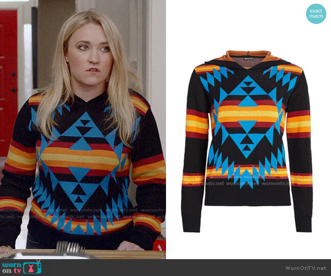 Minnie Rose Printed Hoodie worn by Roxy Doyle (Emily Osment) on Almost Family
