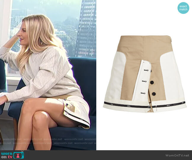 Inverted Twill Mini Skirt by Monse worn by Morgan Stewart  on E! News