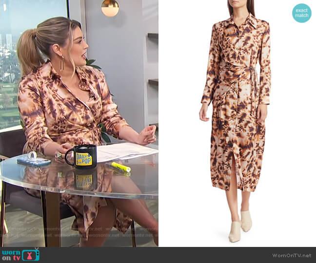 Bisso Long Sleeve Maxi Shirtdress by Nanushka worn by Carissa Loethen Culiner  on E! News