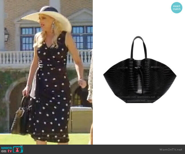 Lynne Tote Bag by Nanushka worn by Alexis Carrington (Elaine Hendrix) on Dynasty