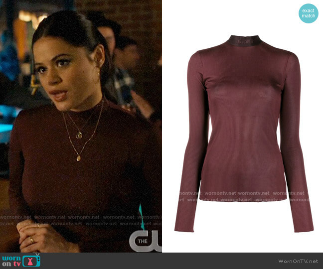 Nanushka Elina Top worn by Mel Vera (Melonie Diaz) on Charmed