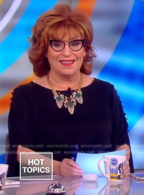 Joy's split button sleeve top on The View