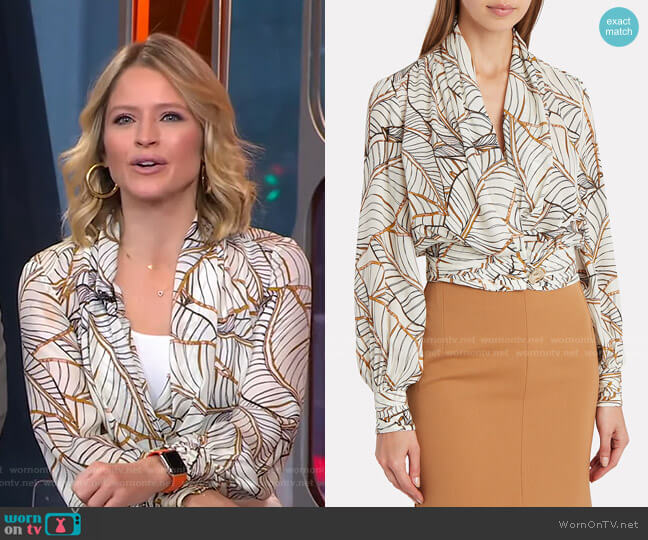 Shaila Blouse by Nicholas worn by Sara Haines  on Good Morning America