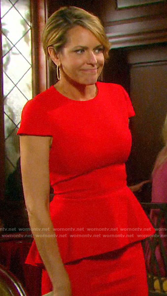 Nicole's red peplum dress on Days of our Lives