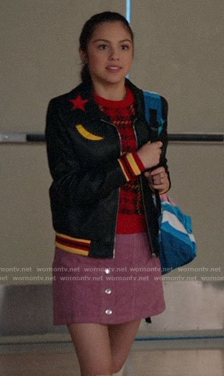 Nini's star and moon patch jacket on High School Musical The Musical The Series
