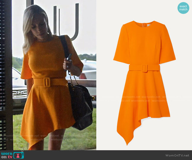 Oscar de la Renta Asymmetric wool-blend crepe mini dress worn by Kristin Cavallari  on Very Cavallari