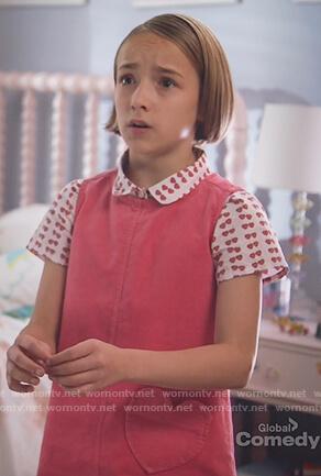 Sophie's pink heart pocket dress on Single Parents