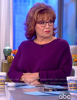 Joy's purple wool sweater on The View