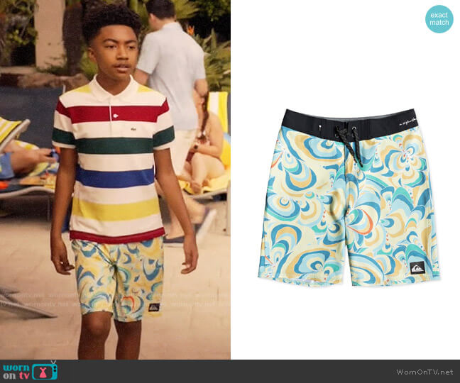 Quiksilver Highline Voodoo Stretch Abstract-Print  worn by Jack Johnson (Miles Brown) on Blackish
