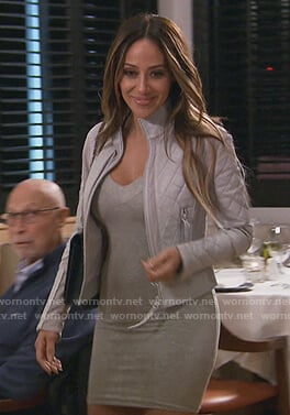 Melissa's quilted leather jacket on The Real Housewives of New Jersey