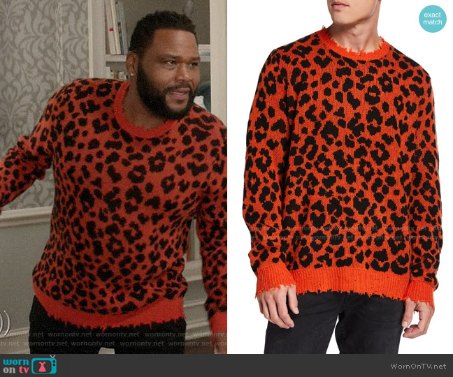 R13 Leopard Cashmere Sweater worn by Andre Johnson (Anthony Anderson) on Blackish