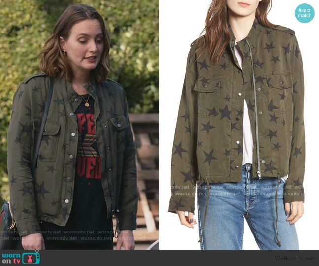 Collins Star Jacket by Rails worn by Angie (Leighton Meester) on Single Parents